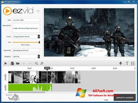 ภาพหน้าจอ Ezvid สำหรับ Windows 7