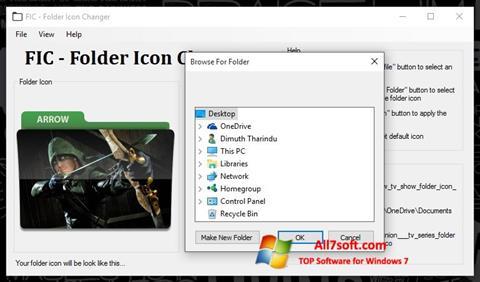 ภาพหน้าจอ Icon Changer สำหรับ Windows 7