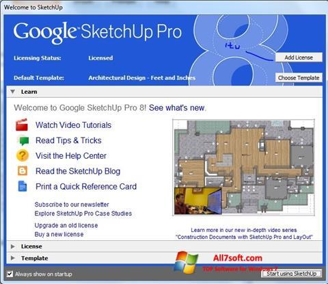 ดาวน์โหลด Google SketchUp Pro สำหรับ Windows 7 (32/64 bit