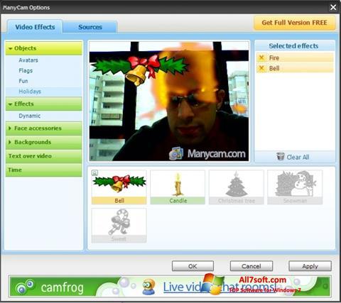 ภาพหน้าจอ ManyCam สำหรับ Windows 7
