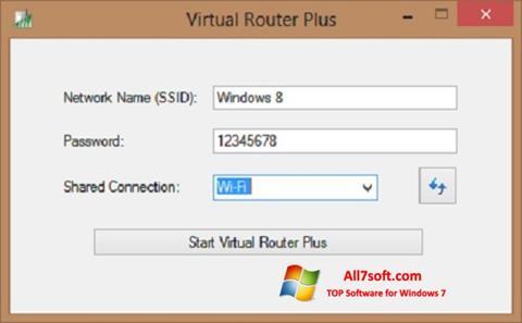 ภาพหน้าจอ Virtual Router Plus สำหรับ Windows 7