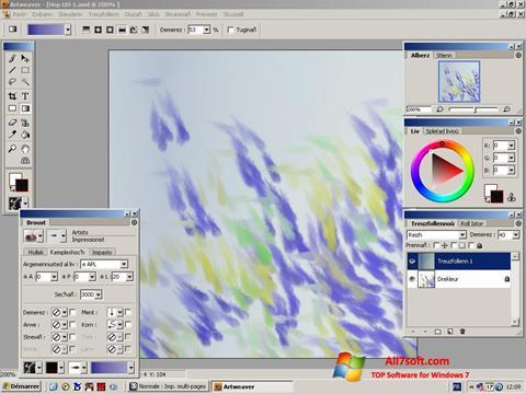 ภาพหน้าจอ Artweaver สำหรับ Windows 7