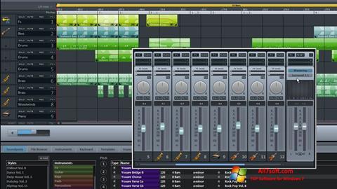 ภาพหน้าจอ MAGIX Music Maker สำหรับ Windows 7