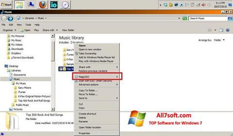 ภาพหน้าจอ MagicISO สำหรับ Windows 7