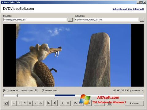 ภาพหน้าจอ Free Video Dub สำหรับ Windows 7
