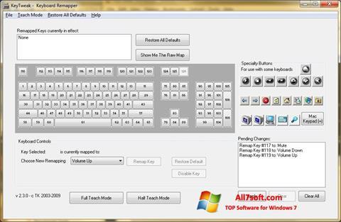 ภาพหน้าจอ KeyTweak สำหรับ Windows 7