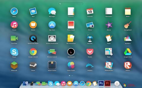 ภาพหน้าจอ OS X Flat IconPack Installer สำหรับ Windows 7