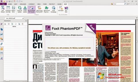 ภาพหน้าจอ Foxit Phantom สำหรับ Windows 7