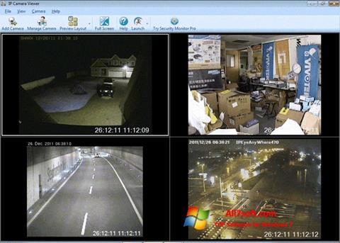 ภาพหน้าจอ IP Camera Viewer สำหรับ Windows 7