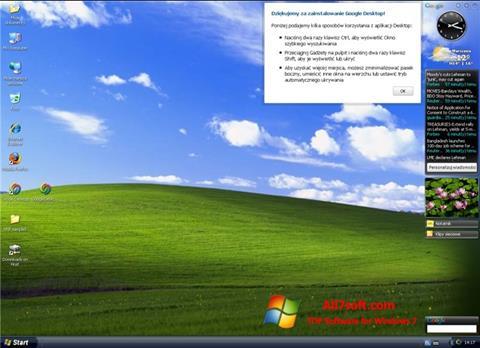 ภาพหน้าจอ Google Desktop สำหรับ Windows 7