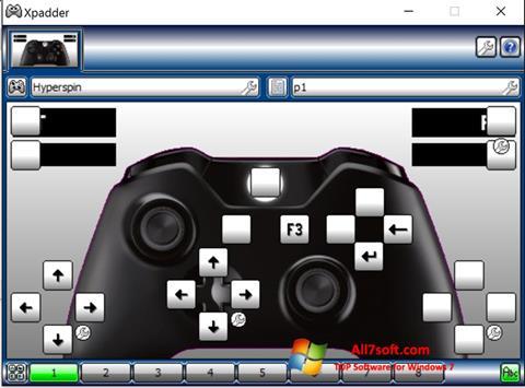 ภาพหน้าจอ Xpadder สำหรับ Windows 7