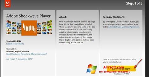 ภาพหน้าจอ Shockwave Player สำหรับ Windows 7