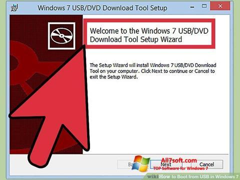 ภาพหน้าจอ Windows 7 USB DVD Download Tool สำหรับ Windows 7