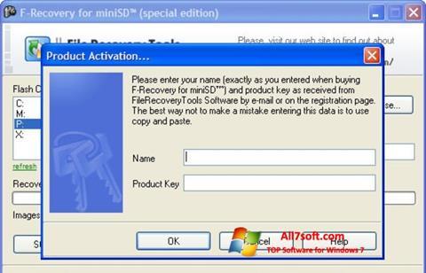 ภาพหน้าจอ F-Recovery SD สำหรับ Windows 7