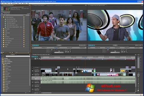 ภาพหน้าจอ Adobe Premiere Pro สำหรับ Windows 7