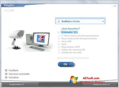 ภาพหน้าจอ PrivaZer สำหรับ Windows 7
