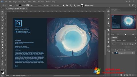 ภาพหน้าจอ Adobe Photoshop สำหรับ Windows 7