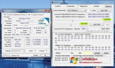 ภาพหน้าจอ SetFSB สำหรับ Windows 7