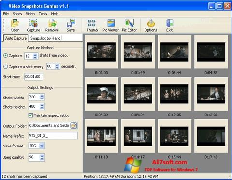 ภาพหน้าจอ SnapShot สำหรับ Windows 7