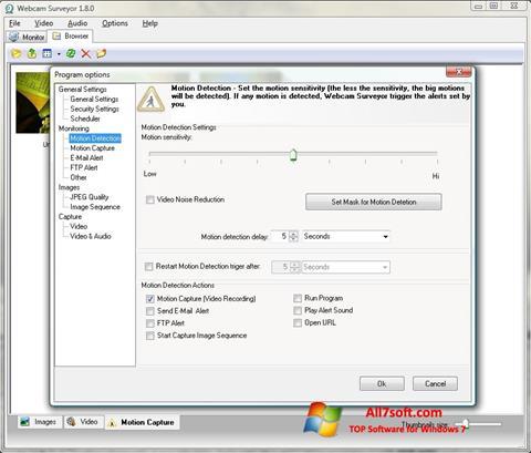 ภาพหน้าจอ Webcam Surveyor สำหรับ Windows 7