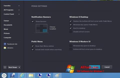 ภาพหน้าจอ Pokki สำหรับ Windows 7