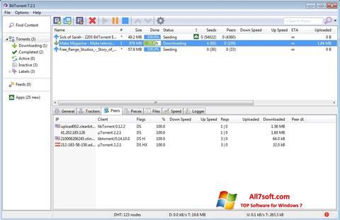 ภาพหน้าจอ BitTorrent สำหรับ Windows 7