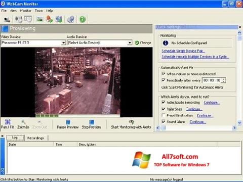 ภาพหน้าจอ WebCam Monitor สำหรับ Windows 7