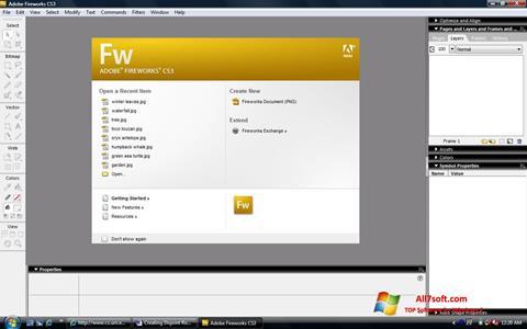 ภาพหน้าจอ Adobe Fireworks สำหรับ Windows 7