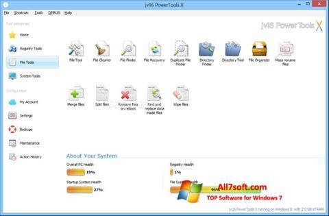 ภาพหน้าจอ jv16 PowerTools สำหรับ Windows 7