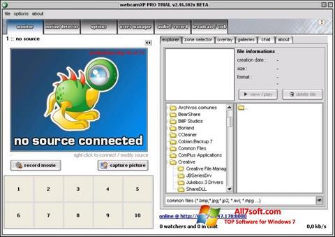 ภาพหน้าจอ webcamXP สำหรับ Windows 7