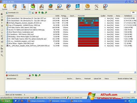 ภาพหน้าจอ eMule สำหรับ Windows 7