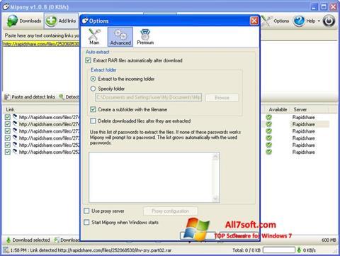 ภาพหน้าจอ Mipony สำหรับ Windows 7