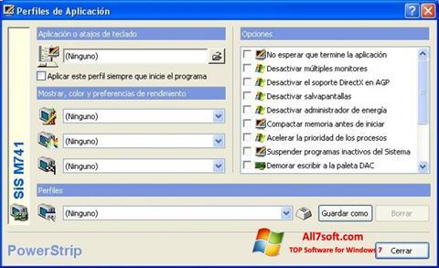 ภาพหน้าจอ PowerStrip สำหรับ Windows 7