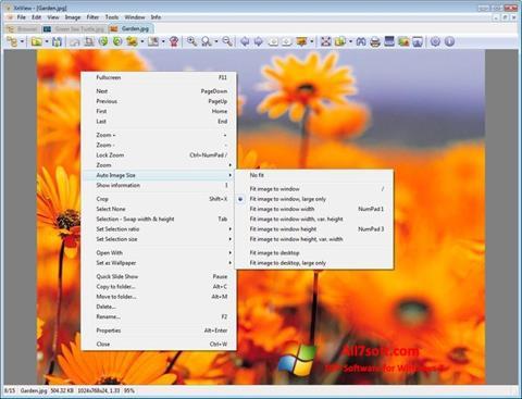 ภาพหน้าจอ XnView สำหรับ Windows 7