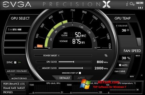 ภาพหน้าจอ EVGA Precision X สำหรับ Windows 7