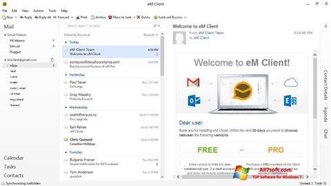 ภาพหน้าจอ eM Client สำหรับ Windows 7