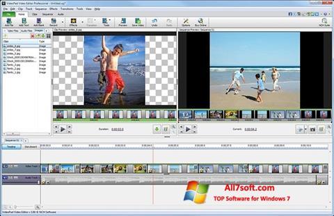 ภาพหน้าจอ VideoPad Video Editor สำหรับ Windows 7