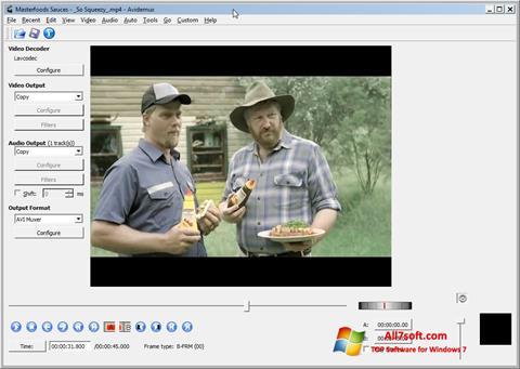 ภาพหน้าจอ Avidemux สำหรับ Windows 7