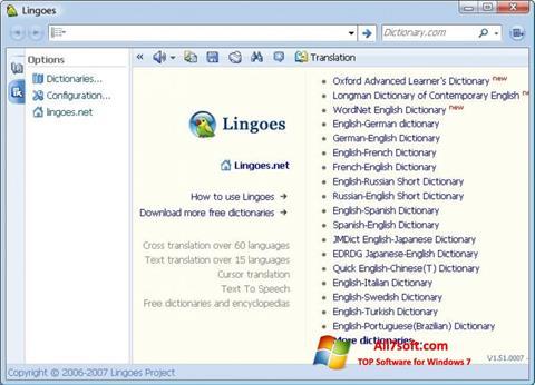 ภาพหน้าจอ Lingoes สำหรับ Windows 7