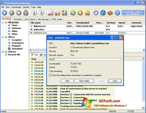 ภาพหน้าจอ Download Master สำหรับ Windows 7