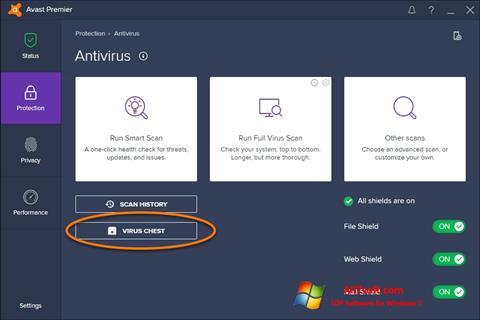 ภาพหน้าจอ Avast สำหรับ Windows 7