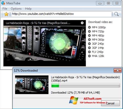 ภาพหน้าจอ MassTube สำหรับ Windows 7