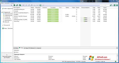 ภาพหน้าจอ uTorrent สำหรับ Windows 7