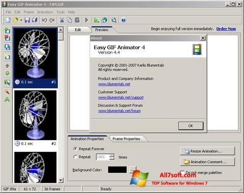 ภาพหน้าจอ Easy GIF Animator สำหรับ Windows 7