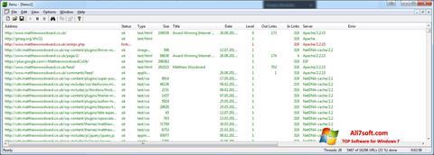 ภาพหน้าจอ Xenu สำหรับ Windows 7