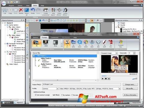 ภาพหน้าจอ Free Video Editor สำหรับ Windows 7