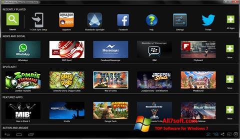 ภาพหน้าจอ BlueStacks สำหรับ Windows 7