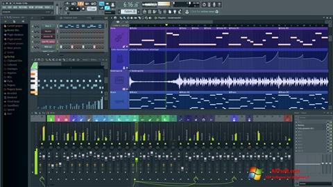 ภาพหน้าจอ FL Studio สำหรับ Windows 7