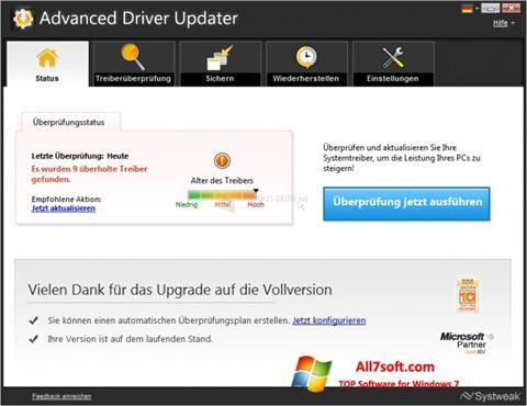 ภาพหน้าจอ Advanced Driver Updater สำหรับ Windows 7