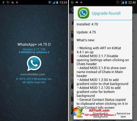 ภาพหน้าจอ WhatsApp Plus สำหรับ Windows 7